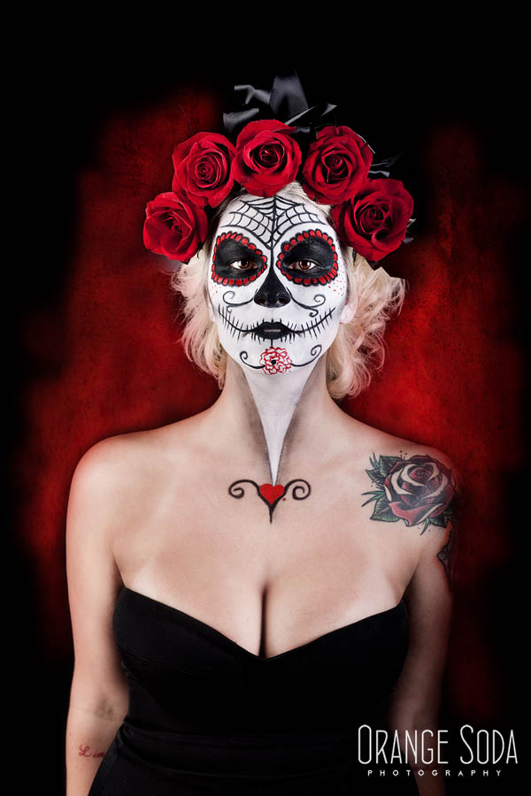 Sugar Skull Makeup in Las Vegas
