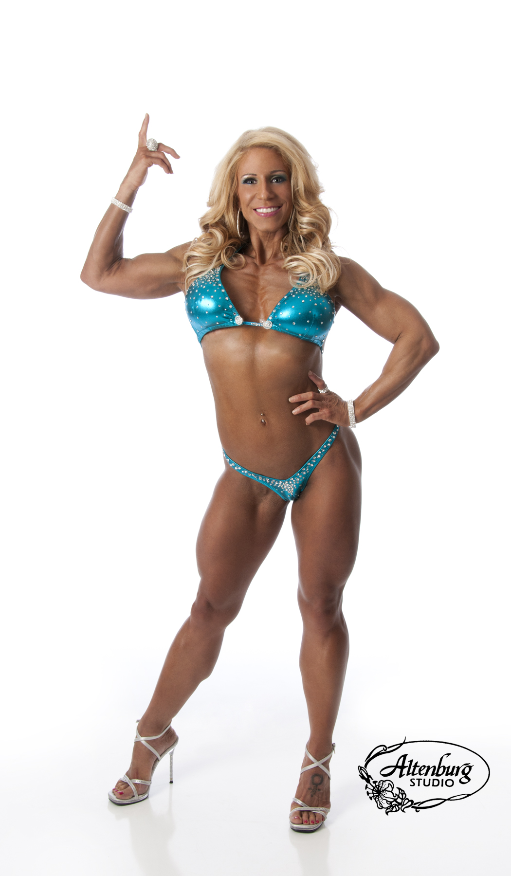 Fitness Competitor Hair and Makeup in Las Vegas