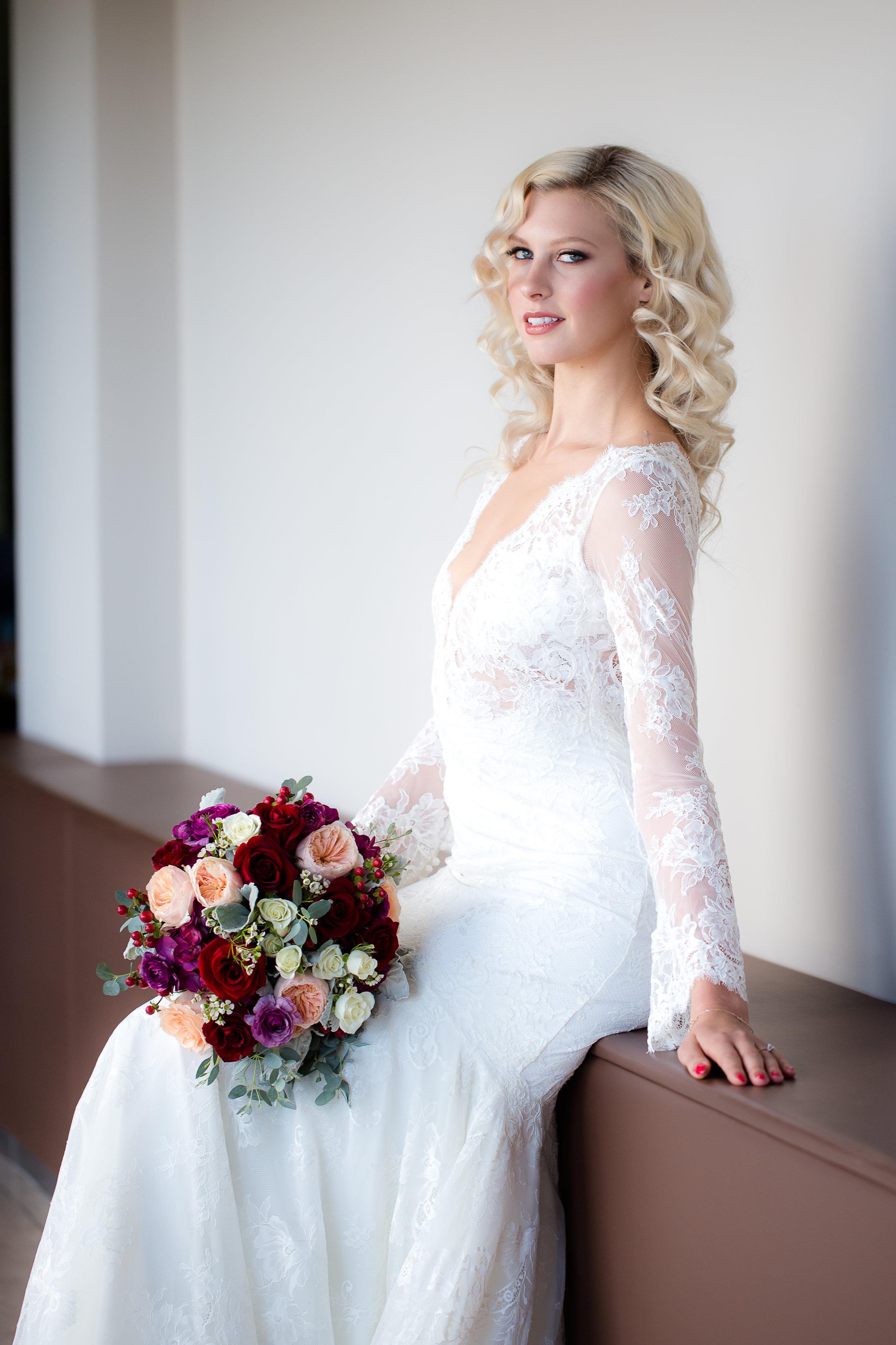 Perfect hair and makeup for Las Vegas wedding