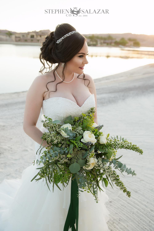 Wedding Updo at Lake Las vegas