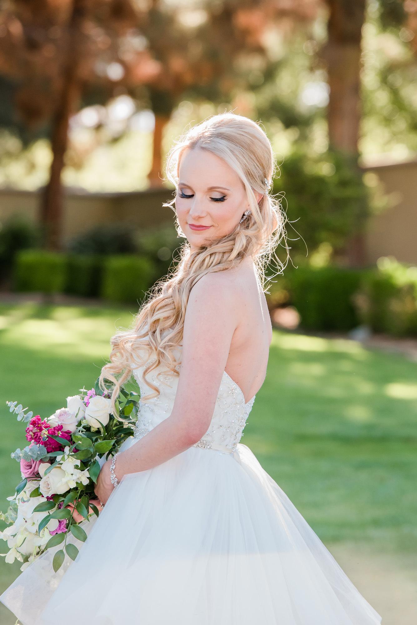 Soft wedding makeup