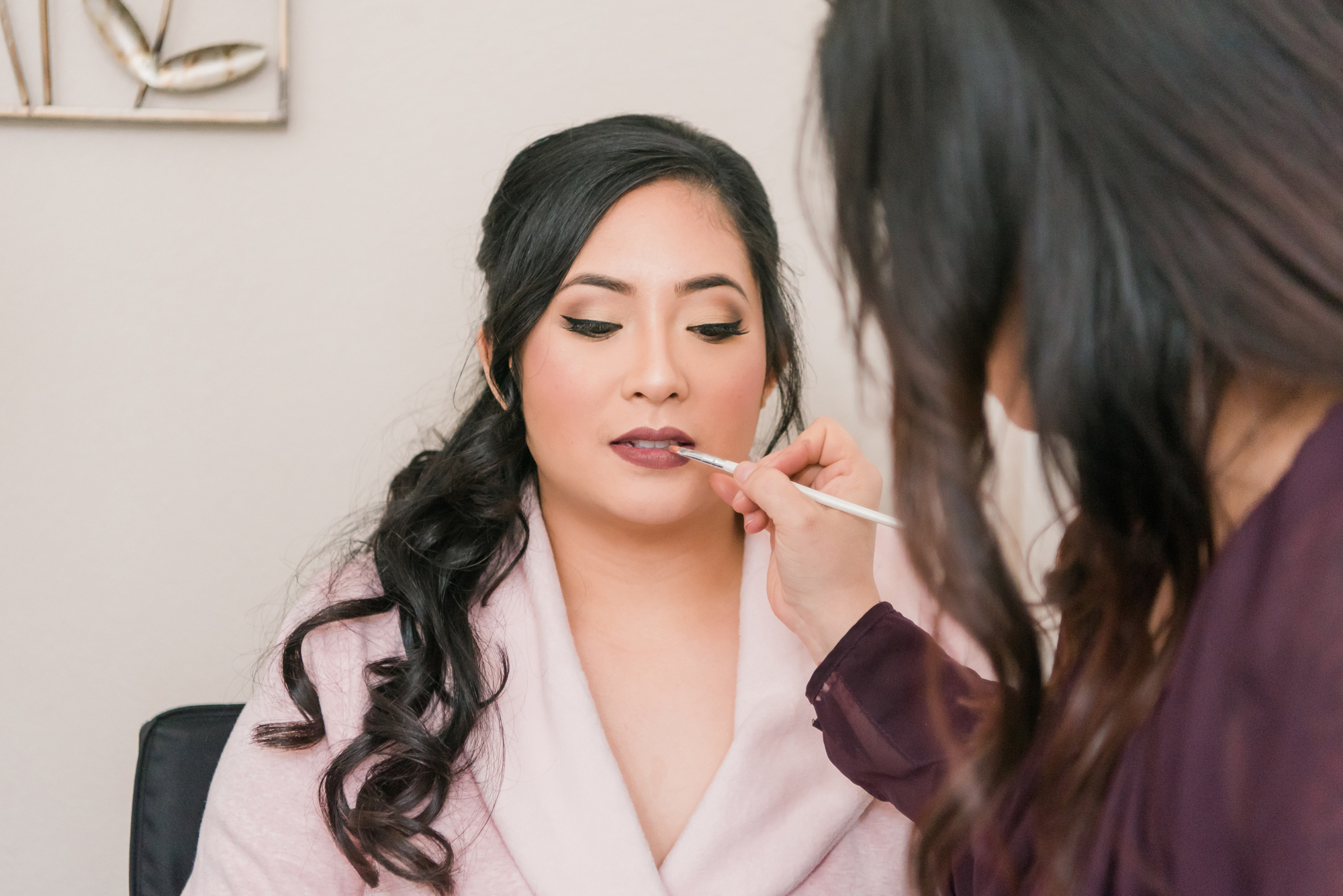 Classic clean bridal makeup