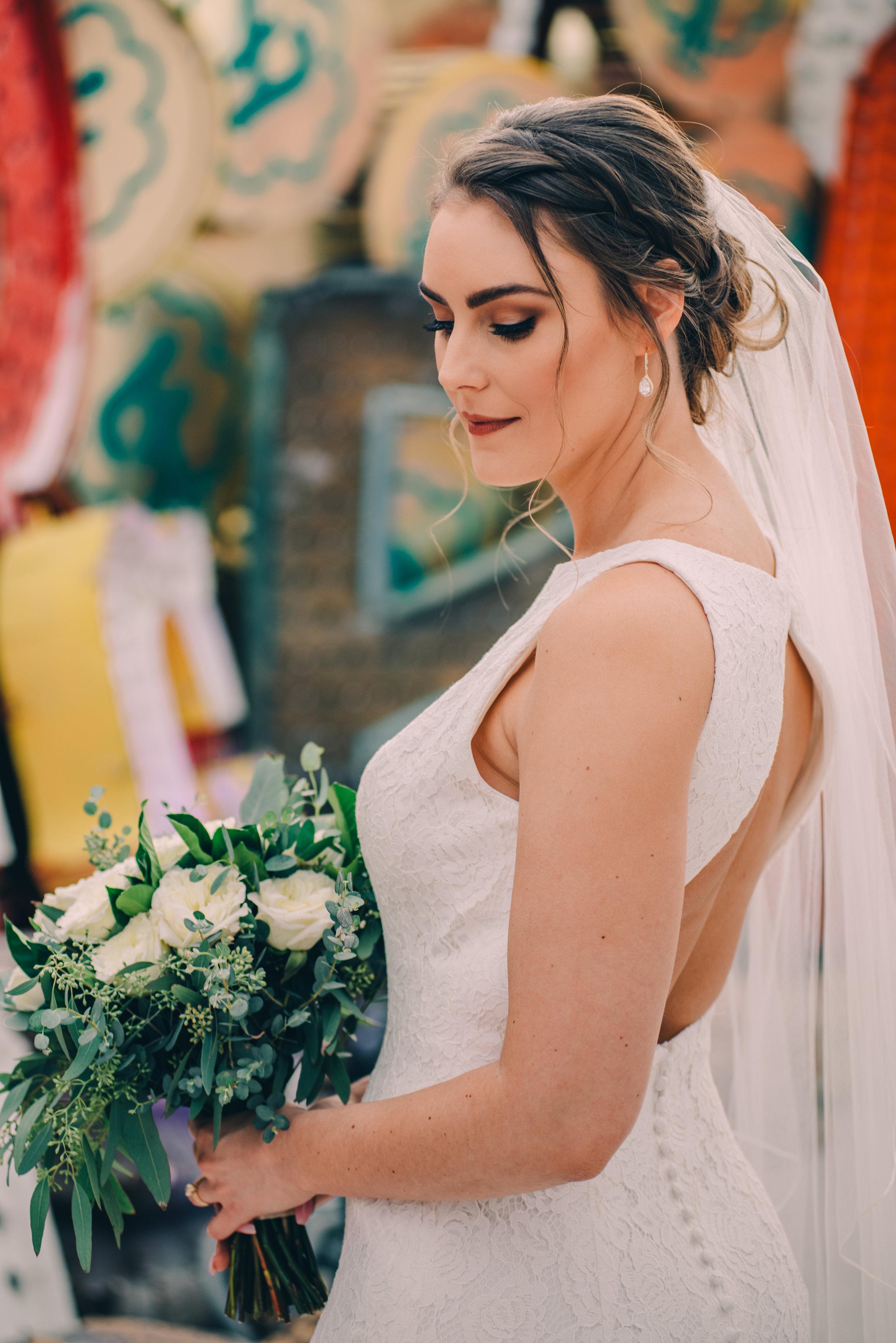 Modern Chic wedding makeup