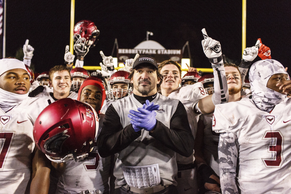 "- Coach Infante led the St. Joe's Prep Hawks to the Pennsylvania State 6A Football title in 2016. The Hawks won state titles in 2013, 2014 and this past season when Coach Infante's team was ranked No. 6 in the final Super 25 rankings and #1 in the East by USA Today after going 14-0. Infante was named the Army National Coach of the Year. He states in a recent USA Today Sports article: ""Love, trust, respect, competition — those are the four things that are important to be successful."" A two-time Don Shula High School Coach of the Year nominee, Infante is a member of USA Football's Advisory Committee and is a Master Trainer in USA Football's Heads Up program."