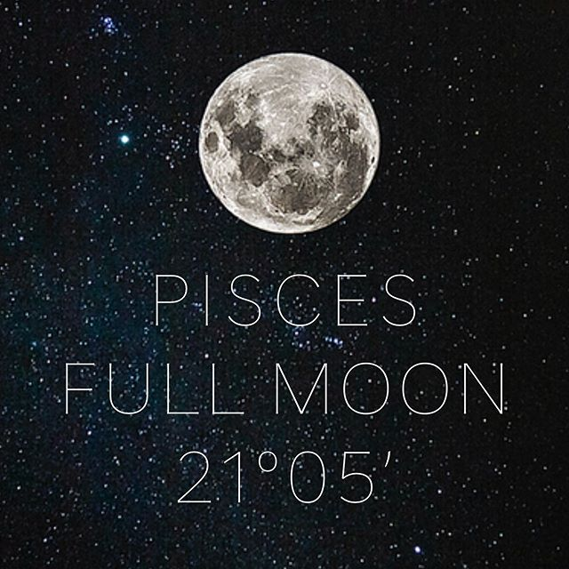 "FU L L  M O O N 2 1 ° 0 5 ' P I S C E S  On Friday September 13th, at 9:32 pm pdt, we have a full moon in Pisces, opposite of the Sun in Virgo. The Moon will be conjunct Neptune at 17°12' and the Sun will be conjunct Mars at 17°11', which is just such a powerful addition to the moon's energy. In addition, Mercury and Venus are conjunct as well as 29° Virgo but not quite as close of an orb. And Jupiter is squaring the energy of the full moon from 16°12' Sagittarius. If you've been feeling, moving, shifting through a lot this week, I'm not surprised. And if you ""aren't"" I would say guess again because there's an abundance of lessons  present for us all. Maybe your situation is deep and reflective of what's going on within you more so than you realize.  Pisces is the psychic sponge of the zodiac. It is porous, absorptive, sensitive, emotional, and creative. It is the mutable water sign, ruled by both Jupiter and Neptune, and is adaptive, flexible, and a chameleon of its surroundings.  Virgo, opposite of Pisces, reflects the axis of duty and servitude. With both of these signs activated, there's a strong sense of duty we all have, duty to ourselves, duty to the world, duty to our loves, duty to fix all of the problems we see before us. Despite Virgo being a feminine earth sign, it's ruled by airy Mercury, and fiery Mars is adding an extra dose of masculine power to the Virgo Sun's energies. Mercury is masculine in its desire to understand linearity, to have black and white answers, to be able to express what is. Mars is masculine in its ability to get deeds done, to be assertive, aggressive, and confrontational when need be, and to be able to make decisions and be active rather than receptive.  So the Sun, which represents our solar consciousness, the thoughts we're aware of, the ego, the lightbulb inside of our brains, is amplified with a lot of masculine energy. We feel the urge to be productive, to take action, to do do do do do. Not only is Virgo a diligent planner and always prefers to know what its next 16 steps are.... Continued in comments 👇🏻"
