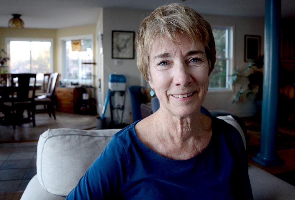 Pam, at her home in Nottingham. (Casey McDermott/NHPR)