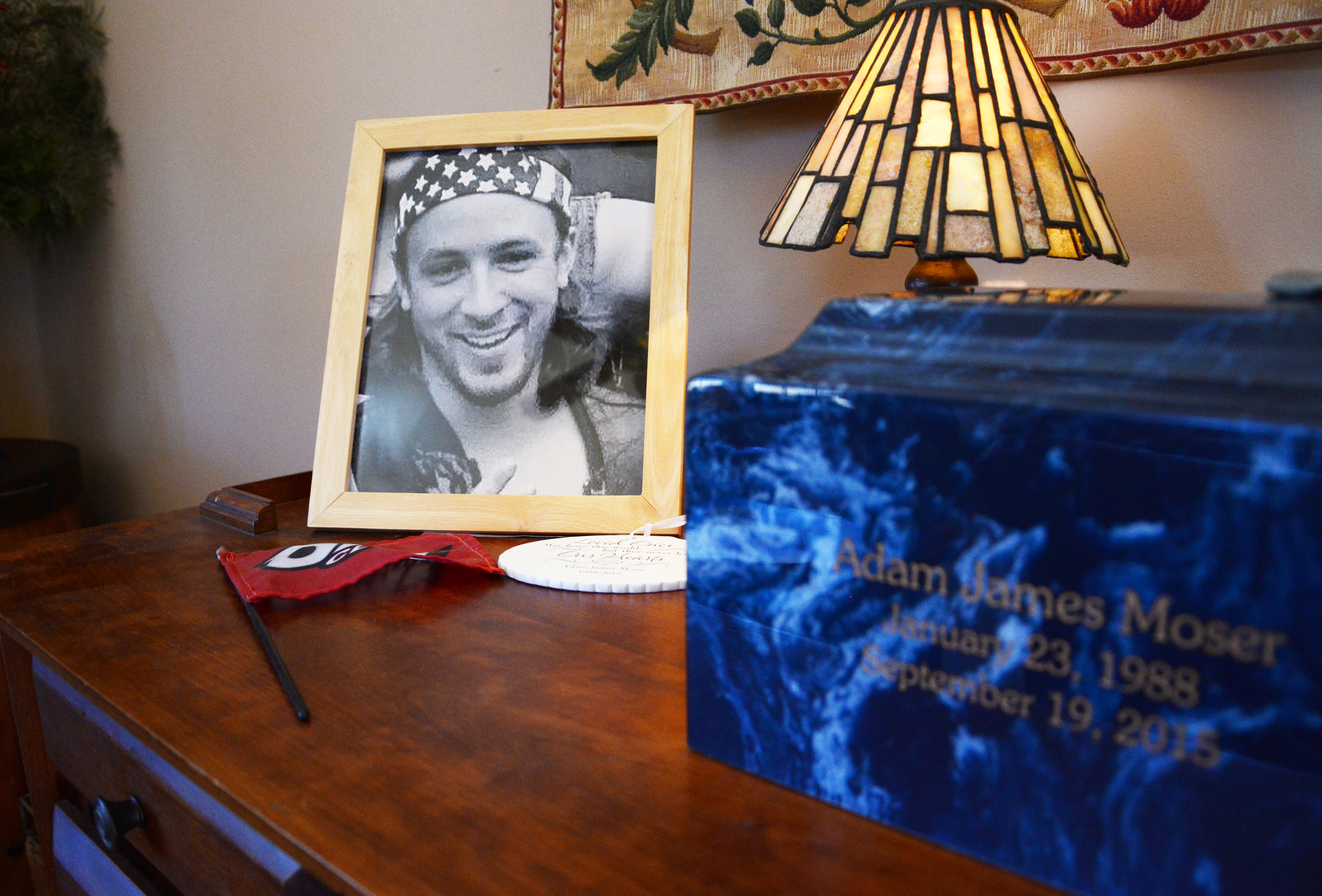 Adam Moser's death has spurred his parents to speak out about the dangers of prescription drug abuse.(Casey McDermott/NHPR)