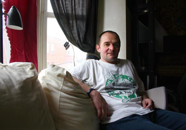 Christopher Milford in his apartment in East Boston, Mass. He quit abusing opioids after getting endocarditis three times.