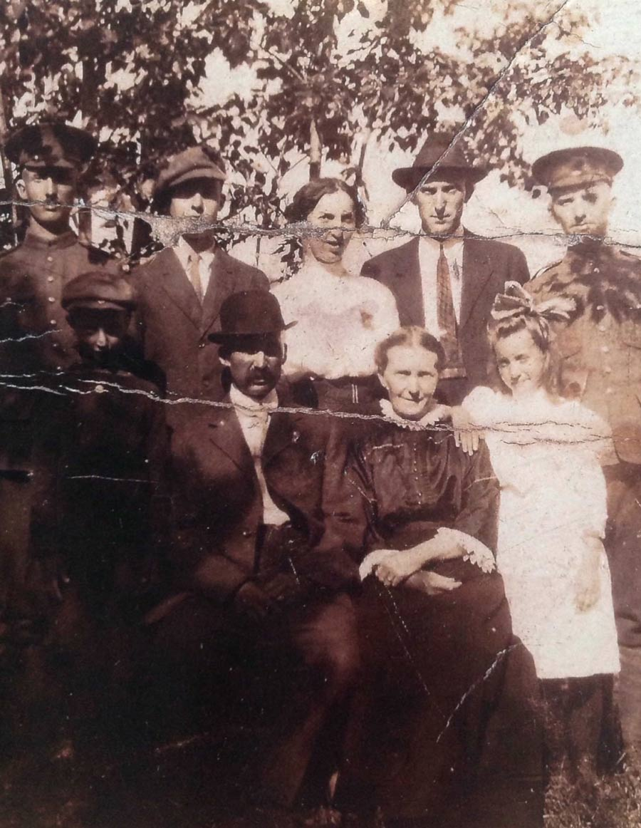 My great grand uncles, George, James and Stewart Clark