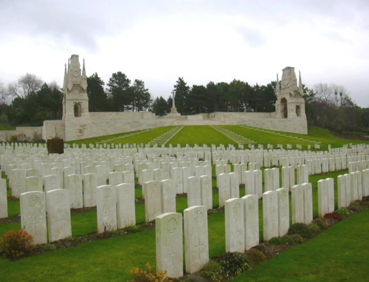 Etaples Military Cemetery, Nord-Pas-de-Calais, France. Photo provided by Marilyne Lambert