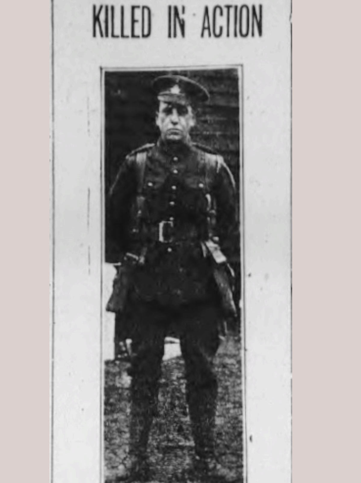 This picture is from the Guardian - a newspaper in Charlottetown. It states that Ernest was with the 104th Battalion.