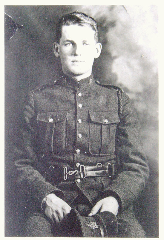 Charles Everett Fraser, his Enlistment Portrait before going to WWI