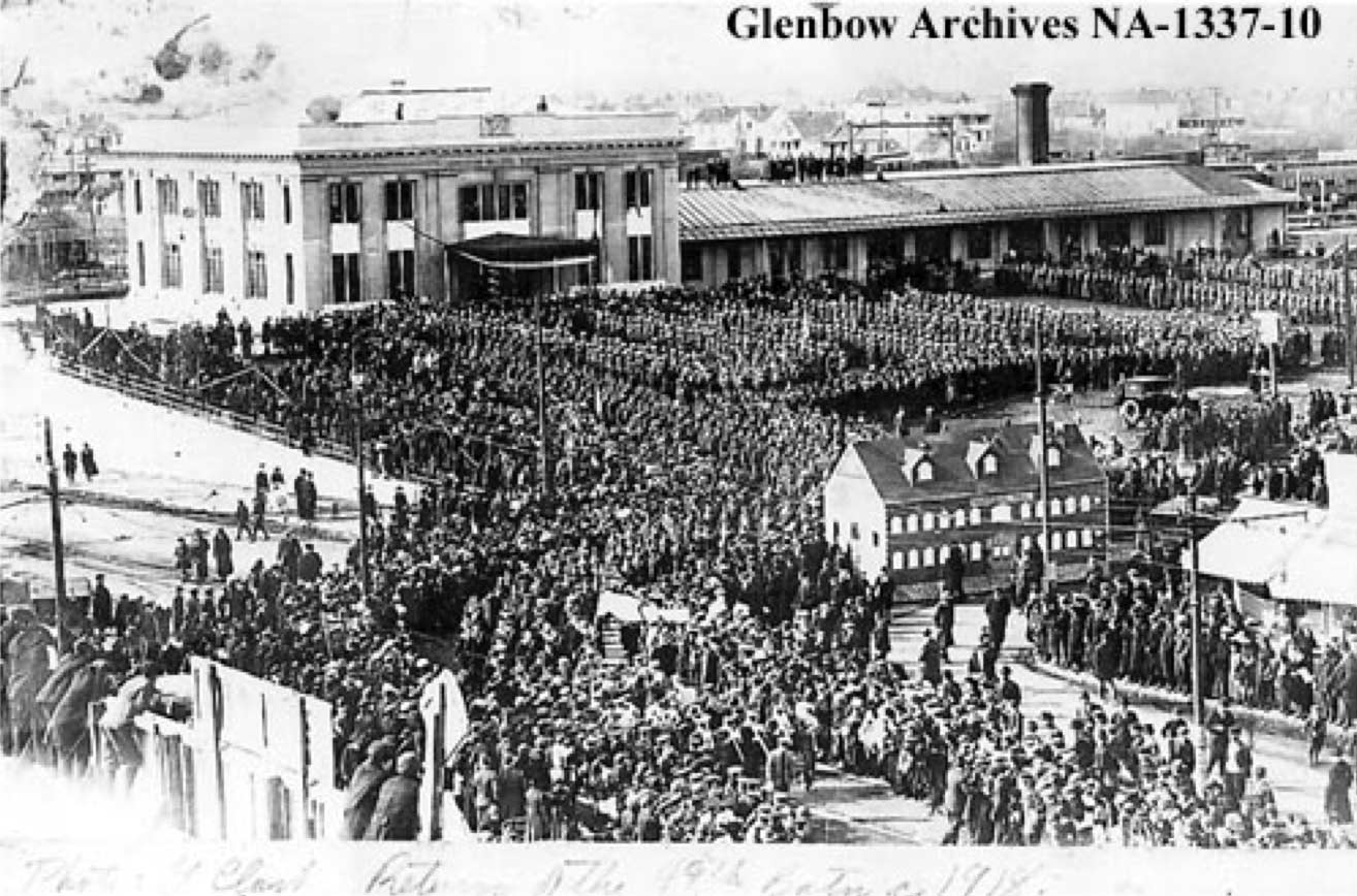 Return of the 49thBattalion to Edmonton, March 1919, Photographer: G. D. Clark, Glenbow Archives NA-1337-10