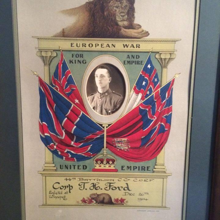 Thomas H. Ford's military gear.  Gord Steinke, Global News