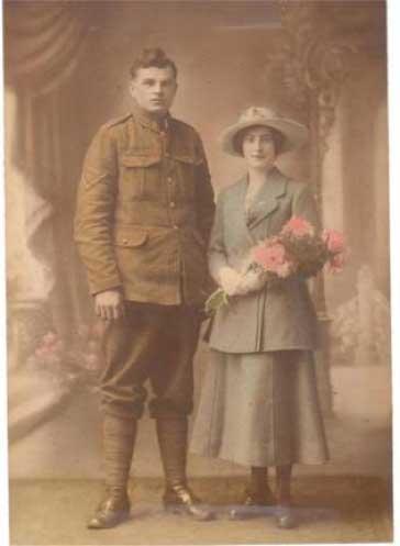 Joseph and Myrtle (née Gerrard) Komich (circa 1918)