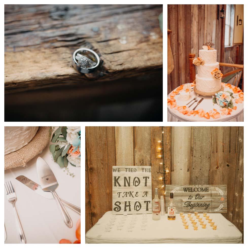 Rustic Glamour Ligonier Wedding Details
