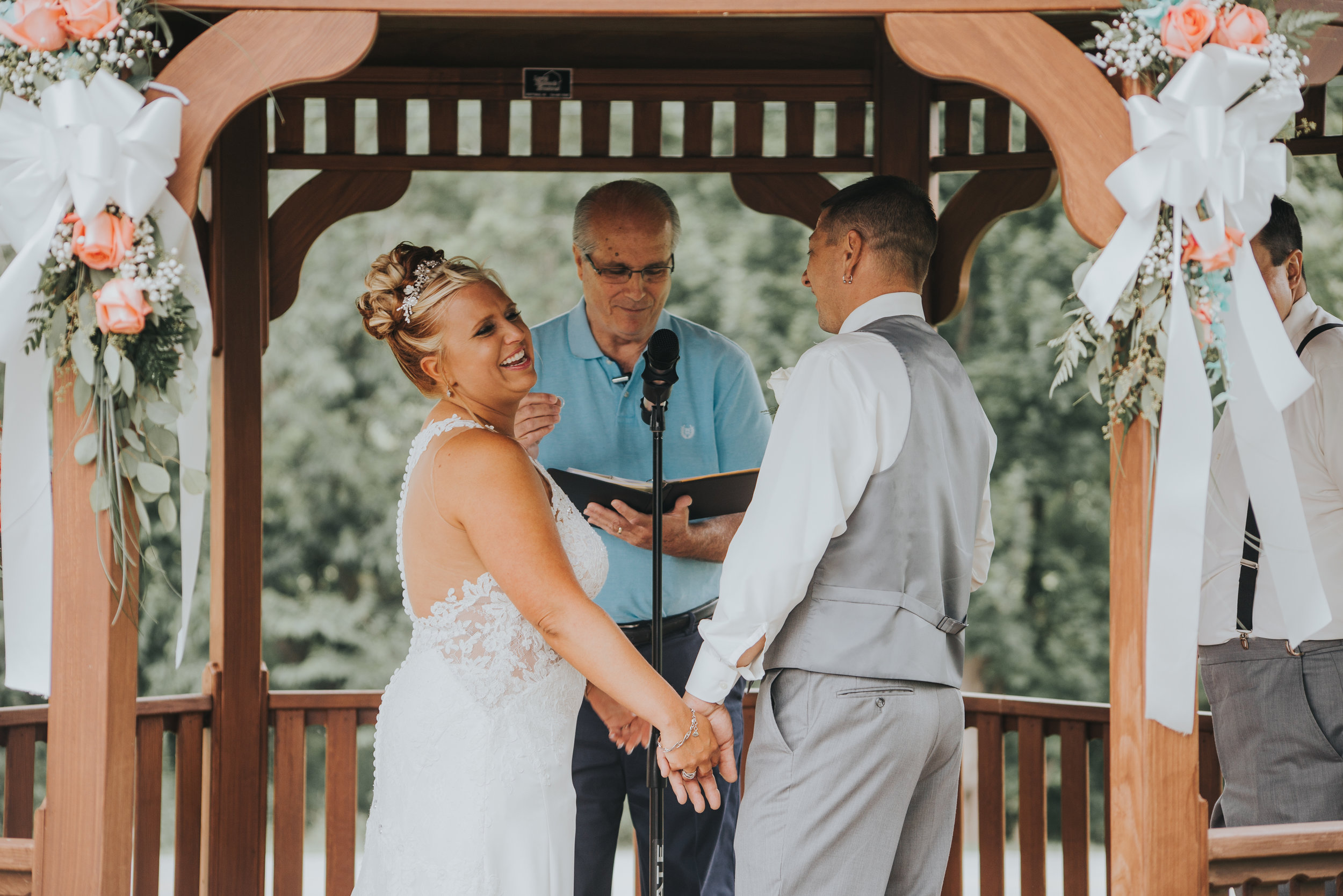 Rustic Glamour Ligonier Wedding Ceremony
