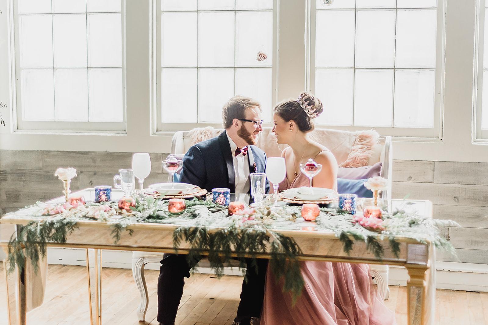 Pittsburgh Nutcracker Wedding Sweetheart Table