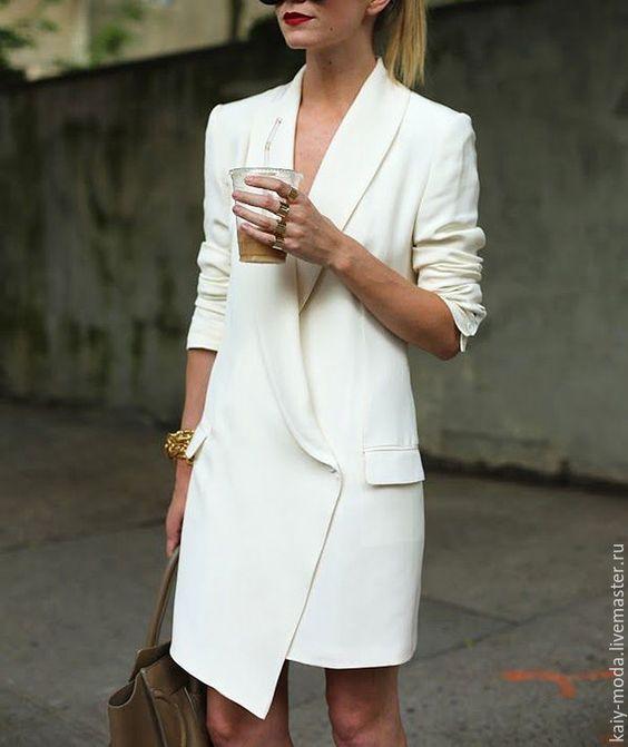 white jacket dress