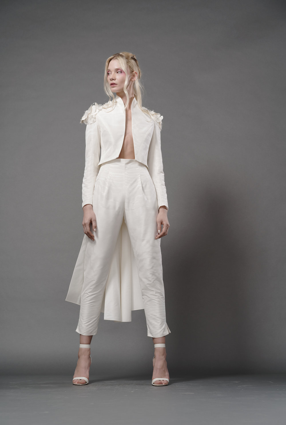 Elizabeth Fillmore Bridal Fall 2019 -  Bowie Rock Star Tail Jacket