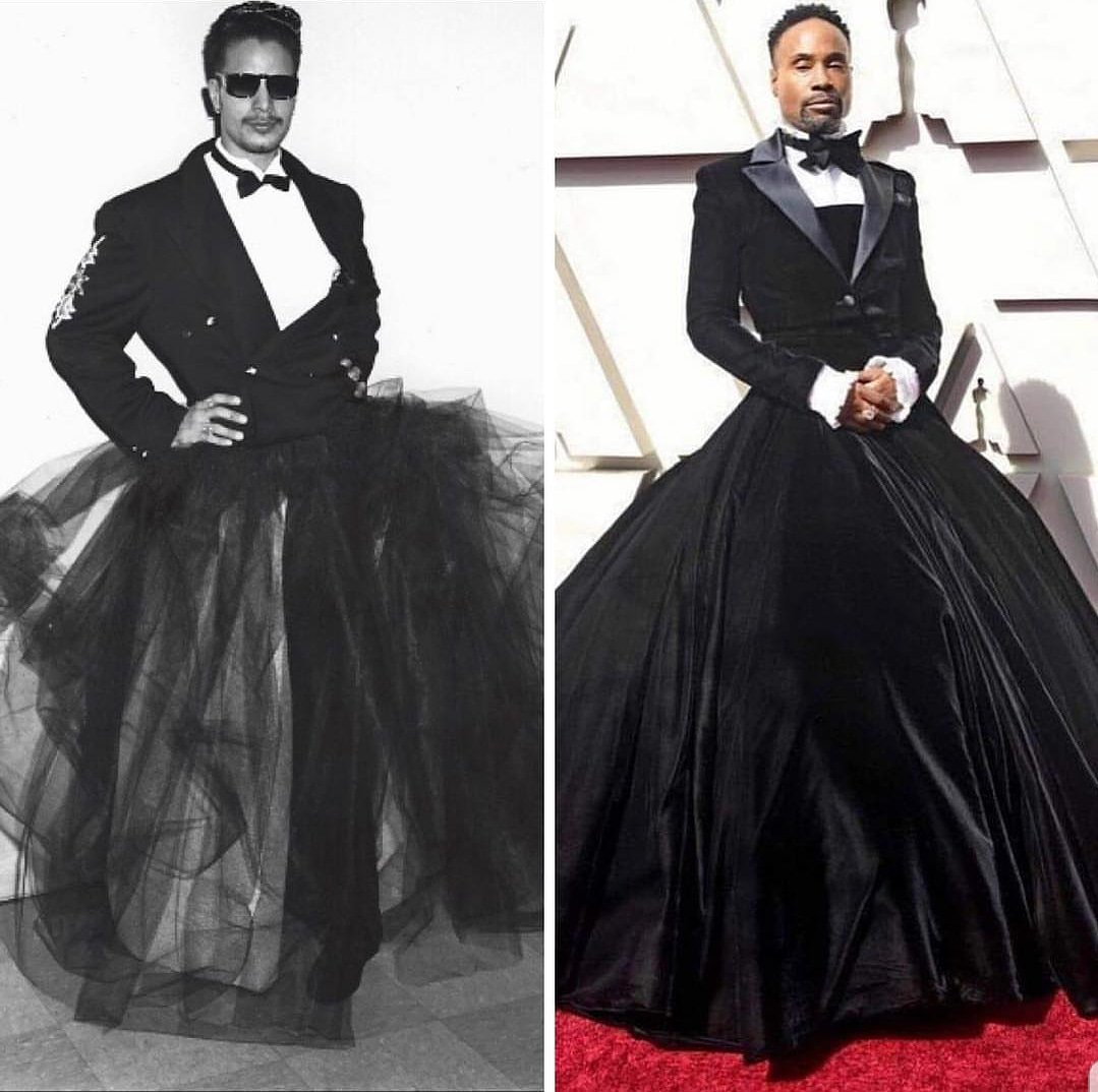 Check out this  Harper's Bazaar article  for more about Billy Porter's 2019 Oscars look by Christian Siriano.