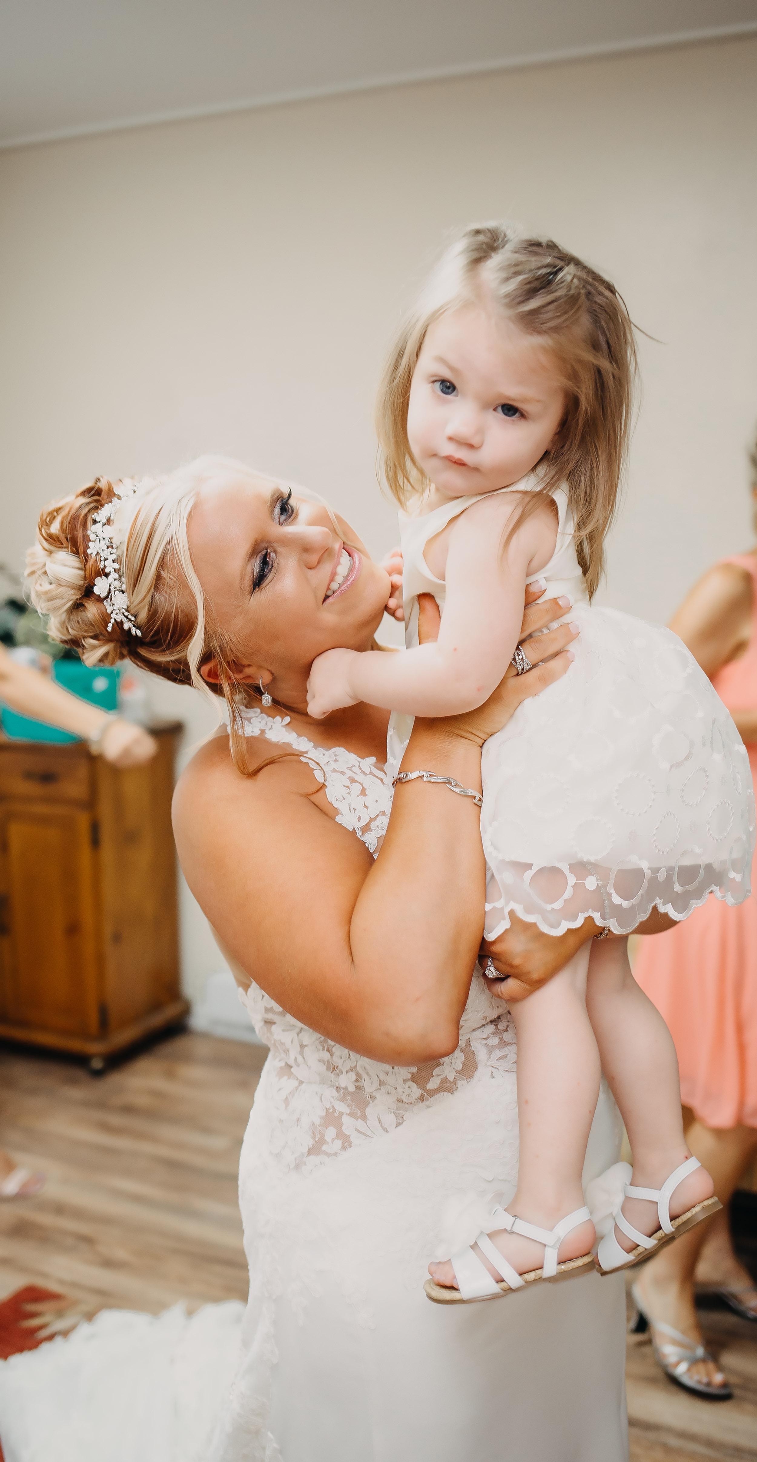 Ligonier western Pennsylvania summer rustic glamour wedding flower girl