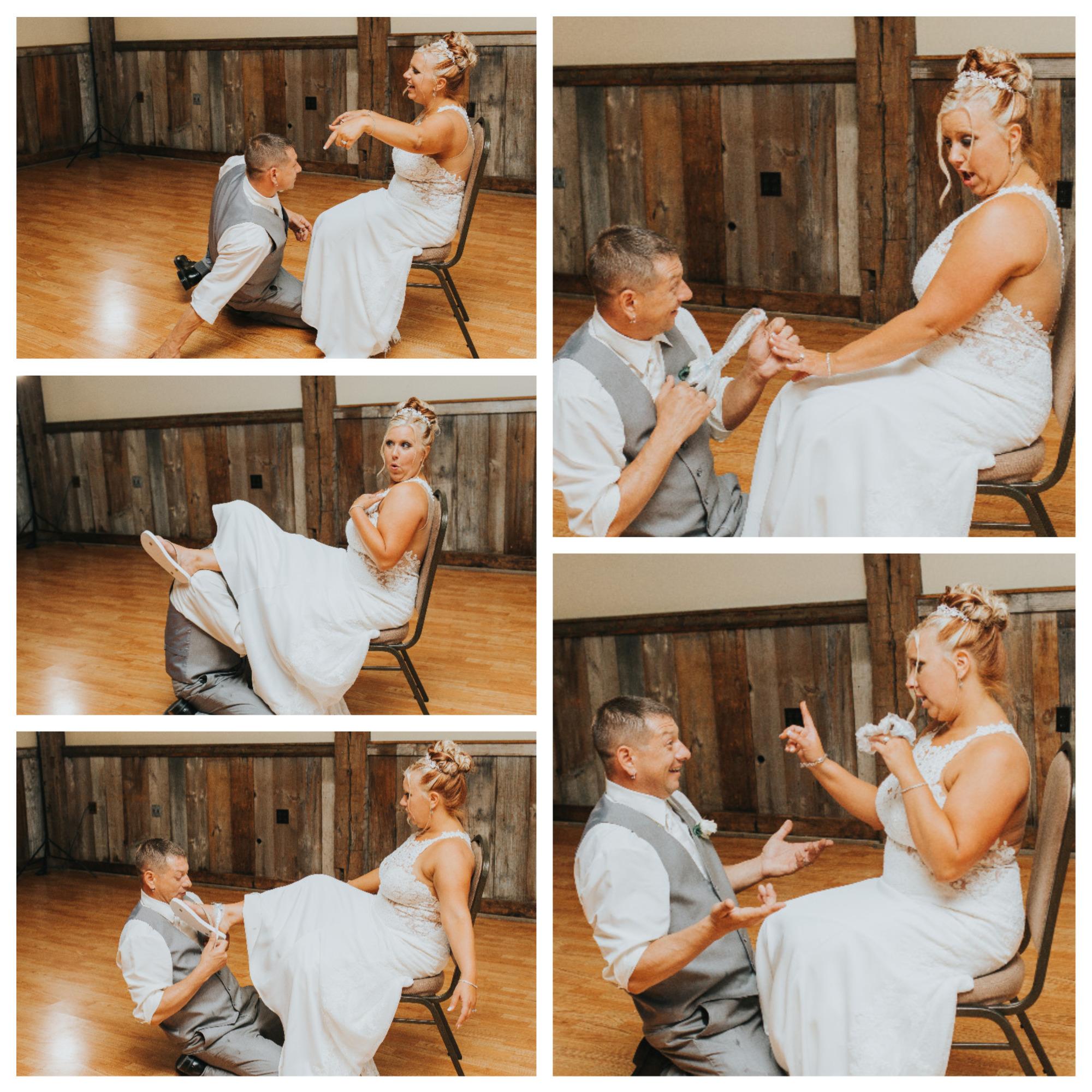summer rustic glamour Ligonier Western Pennsylvania wedding garter toss