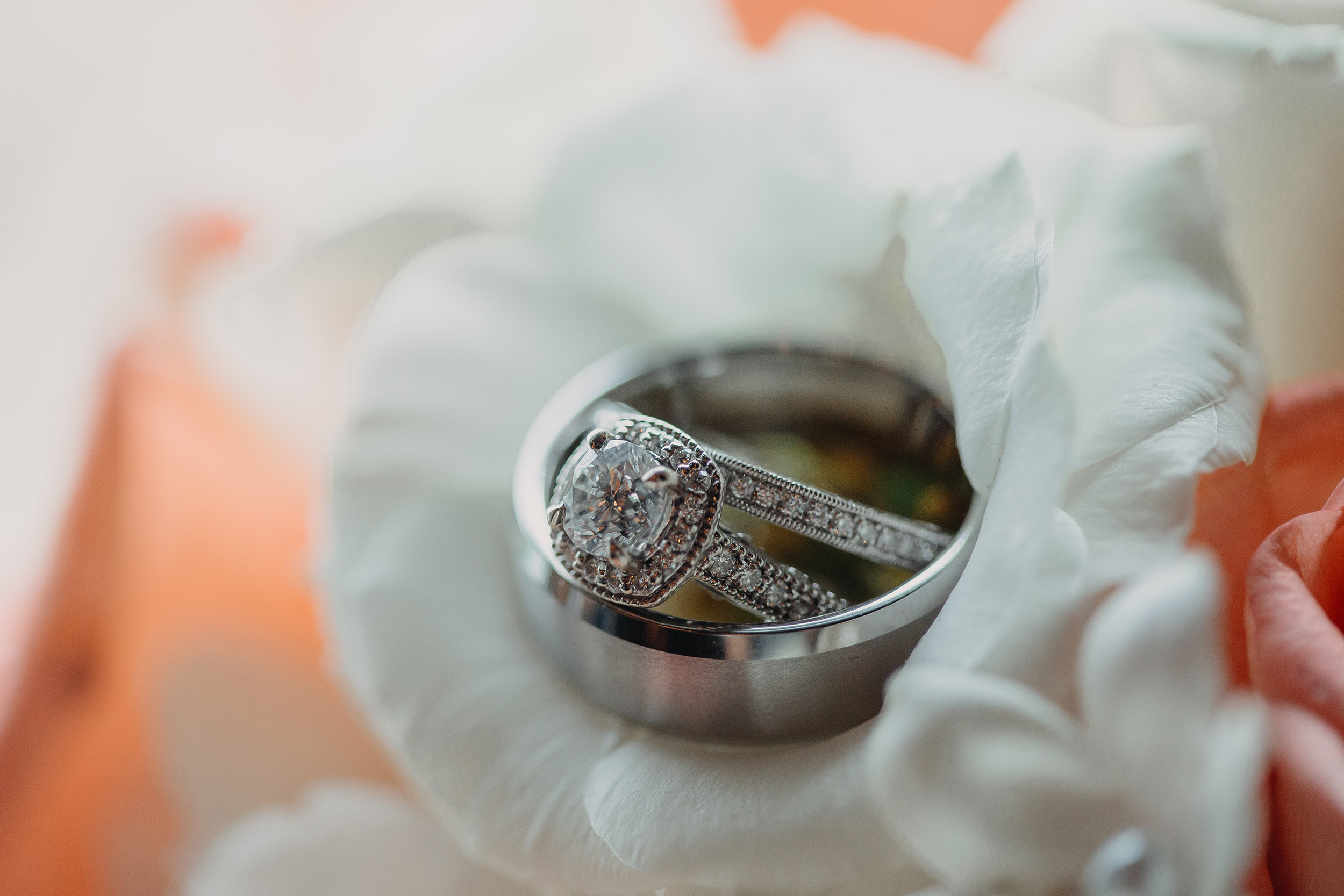 western Pennsylvania Ligonier rustic glamour summer wedding rings