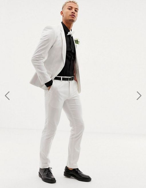 ASOS - DESIGN wedding  skinny suit in stretch cotton . Also available in  Tall sizes .