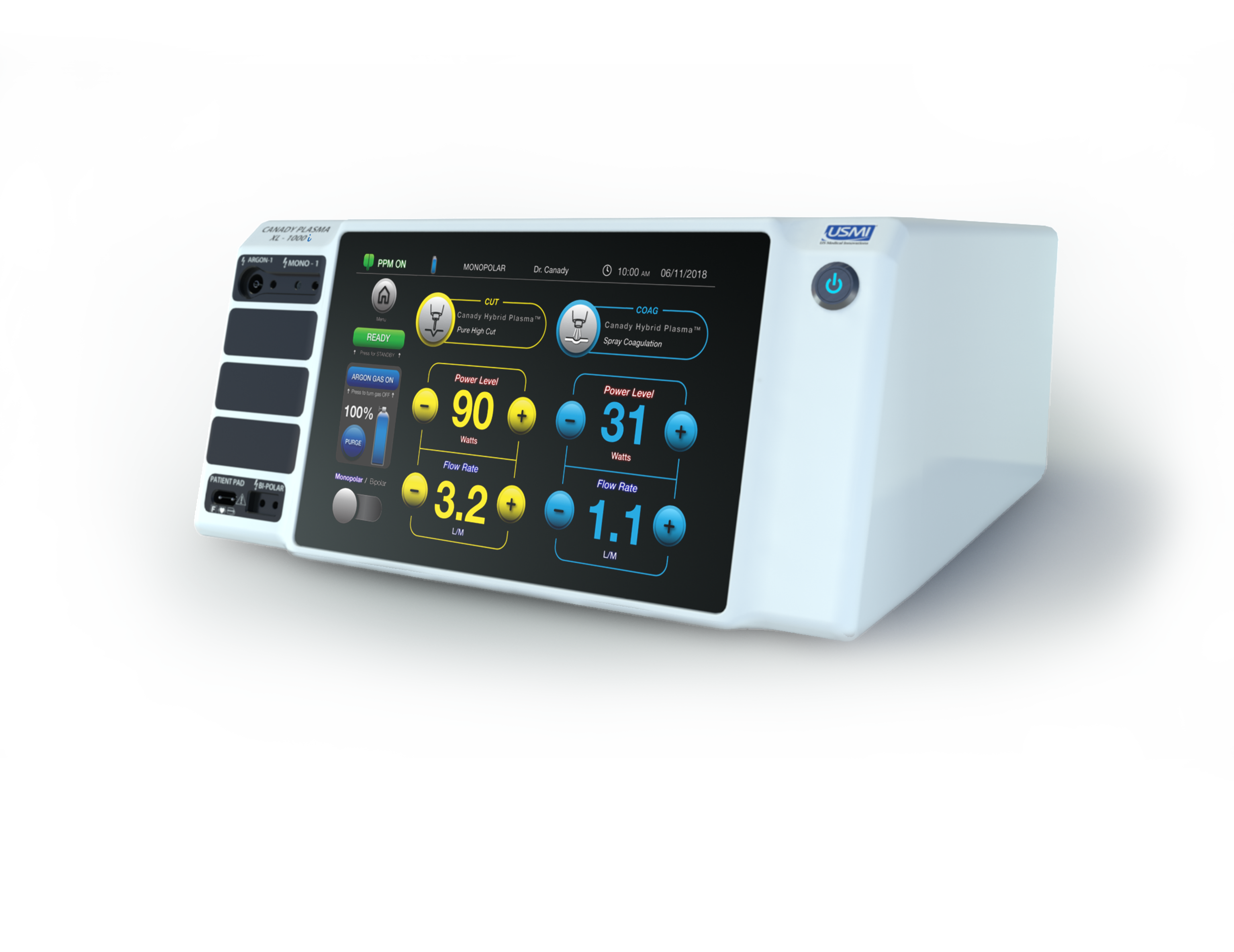 Canady Plasma Smart Electrosurgical Generator : 3D Renders - Learn More