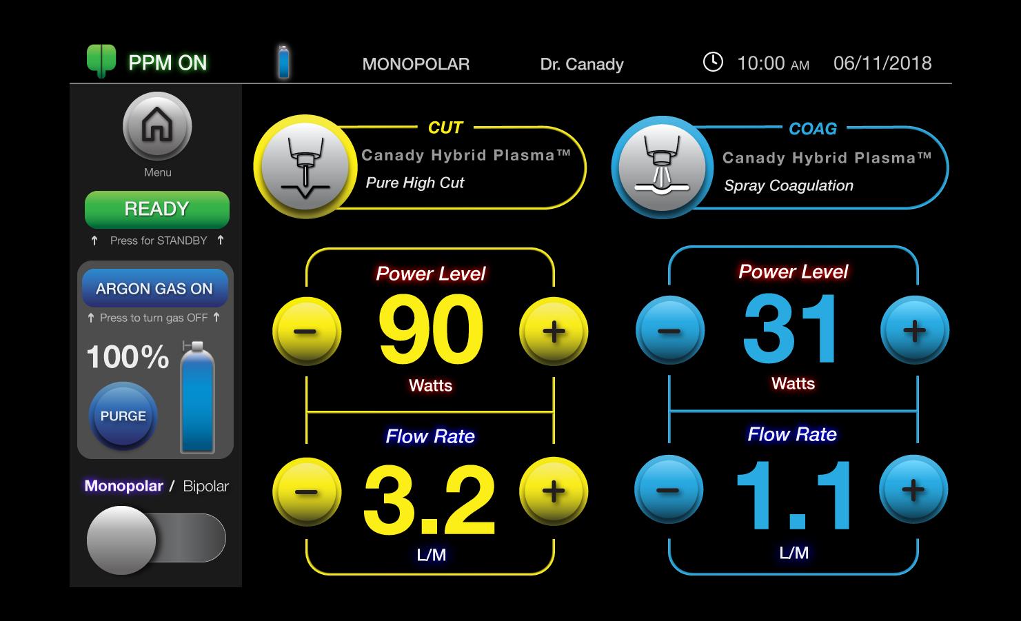USMI : Electrosurgical Generator UI Design - Learn More