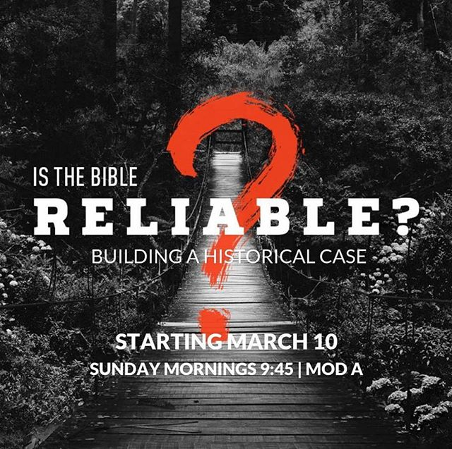 Do you ever wonder if the Bible is reliable? Is it truly the direct revelation of our Creator?  This class will examine the historical and archaeological evidence to determine the accuracy of Scripture.  Bring your questions, curiosities and be ready to engage your mind as we discuss the facts and get to the real answers.  Check out reallifeministries.com/YAclasses to get more info & to register for free.