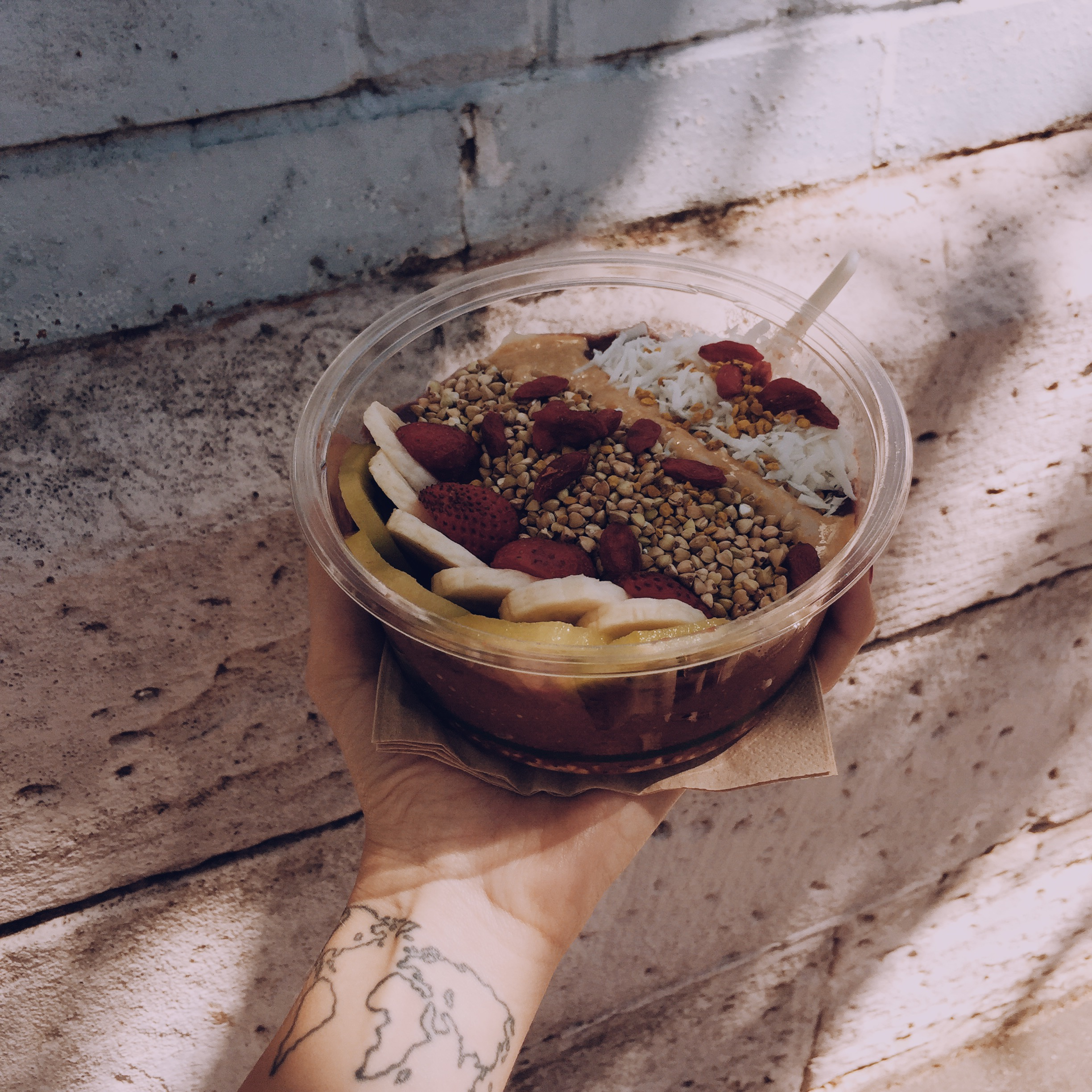 loads and loads of food places - this great acai bowl is from  cali press