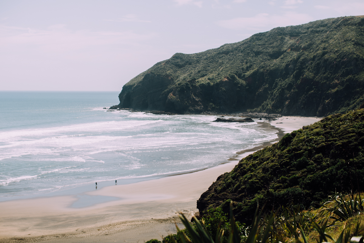 the other side of Bethell's beach