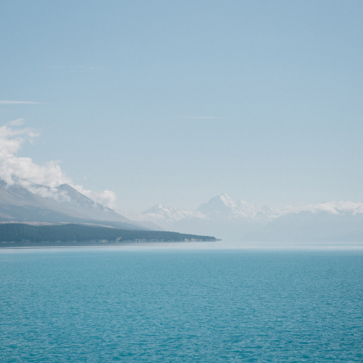 the colour of glacial lakes & rivers - bluer than the sky