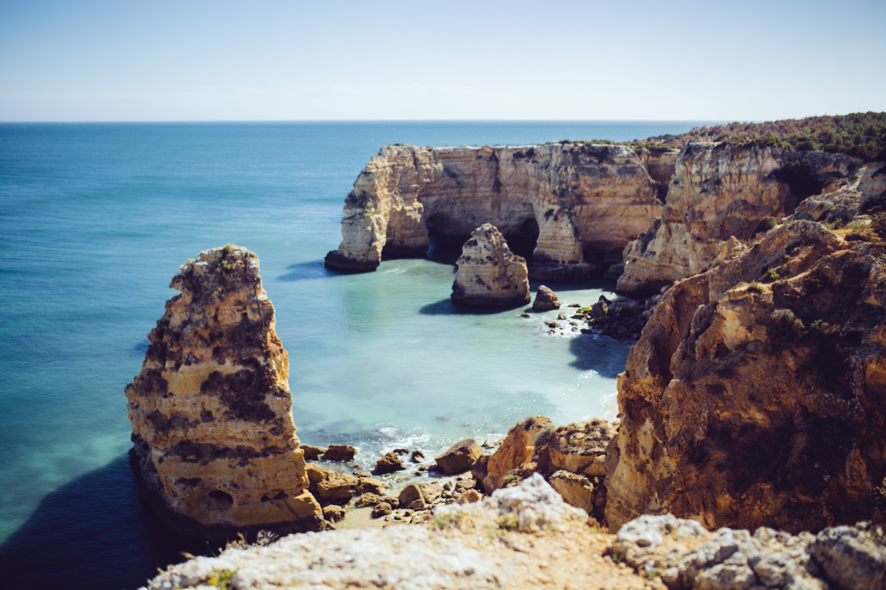 Praia da Marinha from the top - this picture only shows one tiny corner of it!