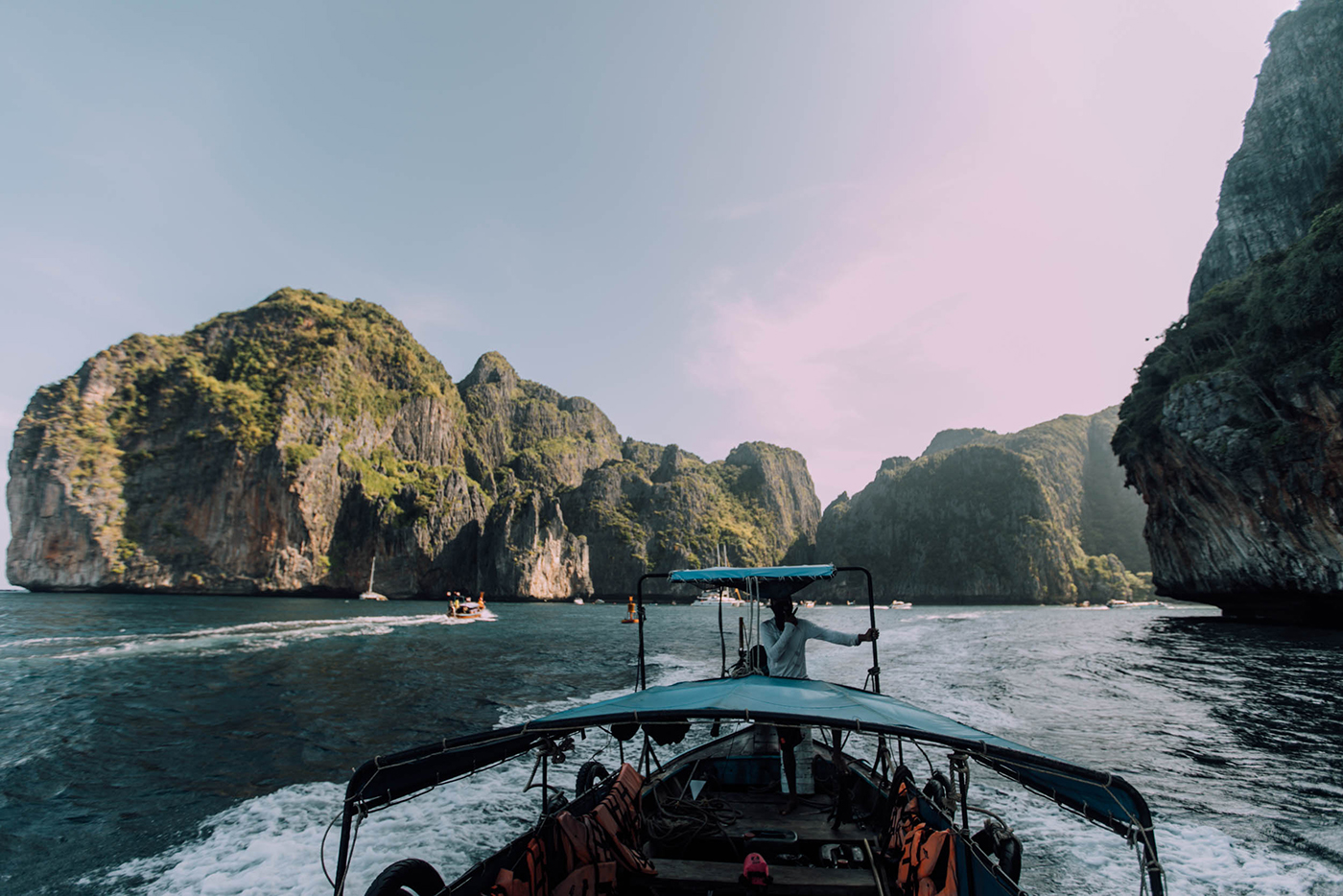 leaving maya bay
