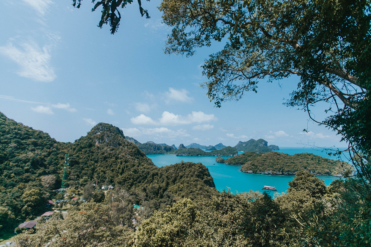 ang thong national park hike views