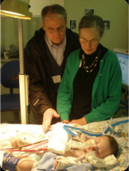 Richard and Linda at Nico's bedside