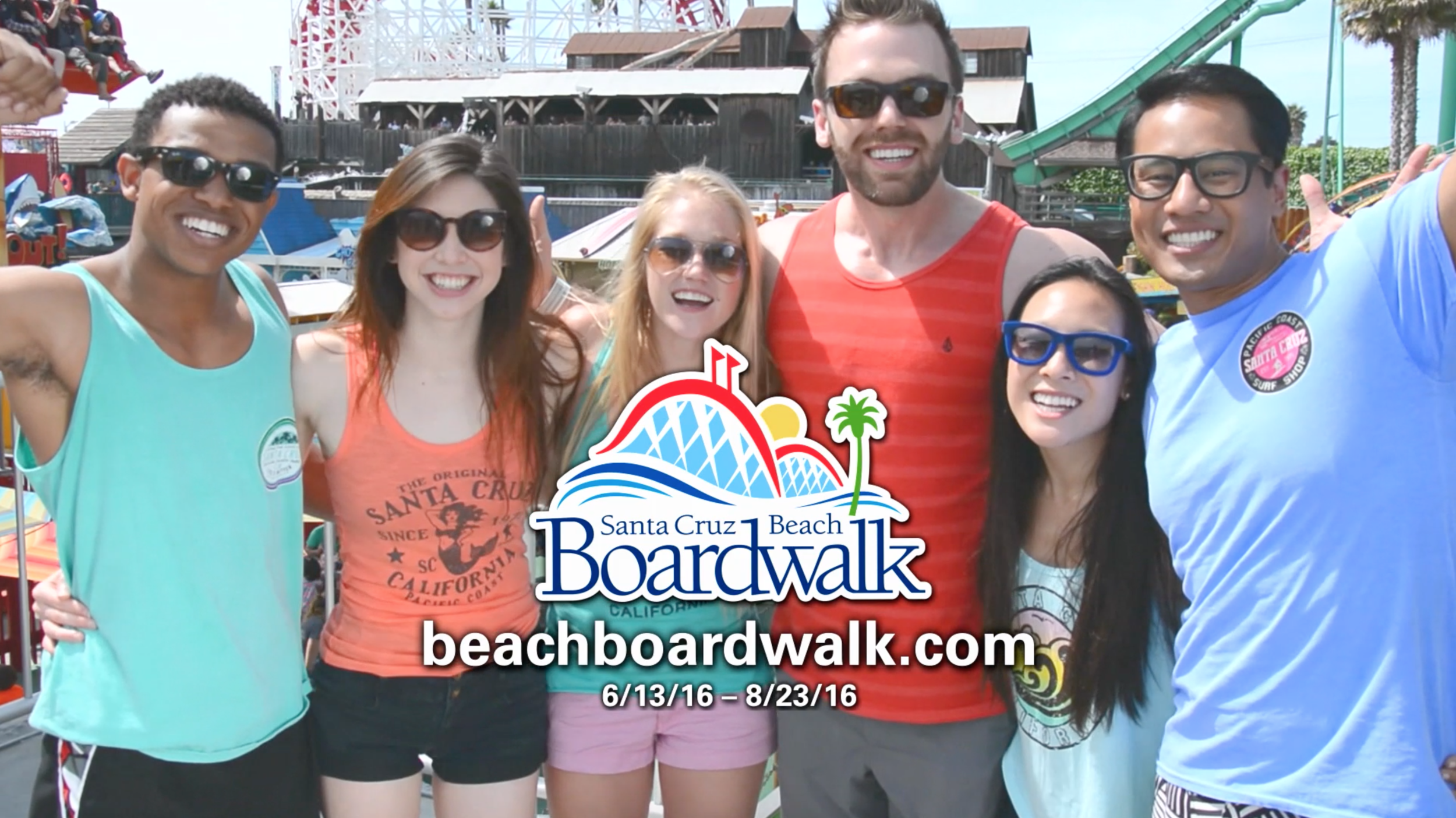 TV screen shot of the Santa Cruz Beach Boardwalk Commercial