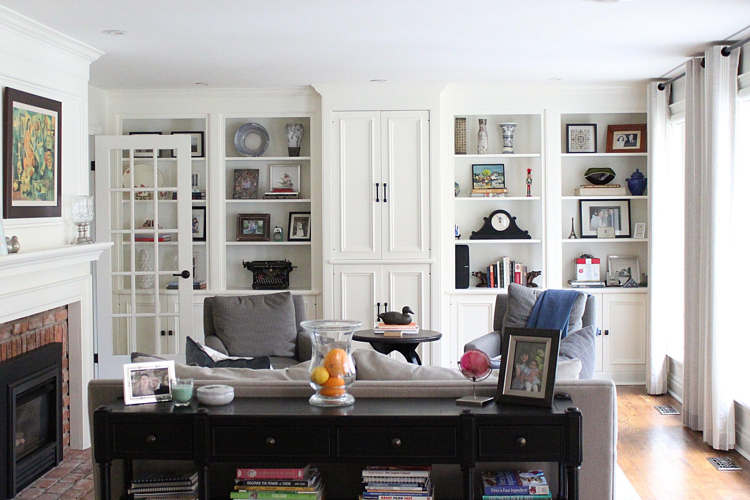 kmsd escarpment family home living room bookshelves