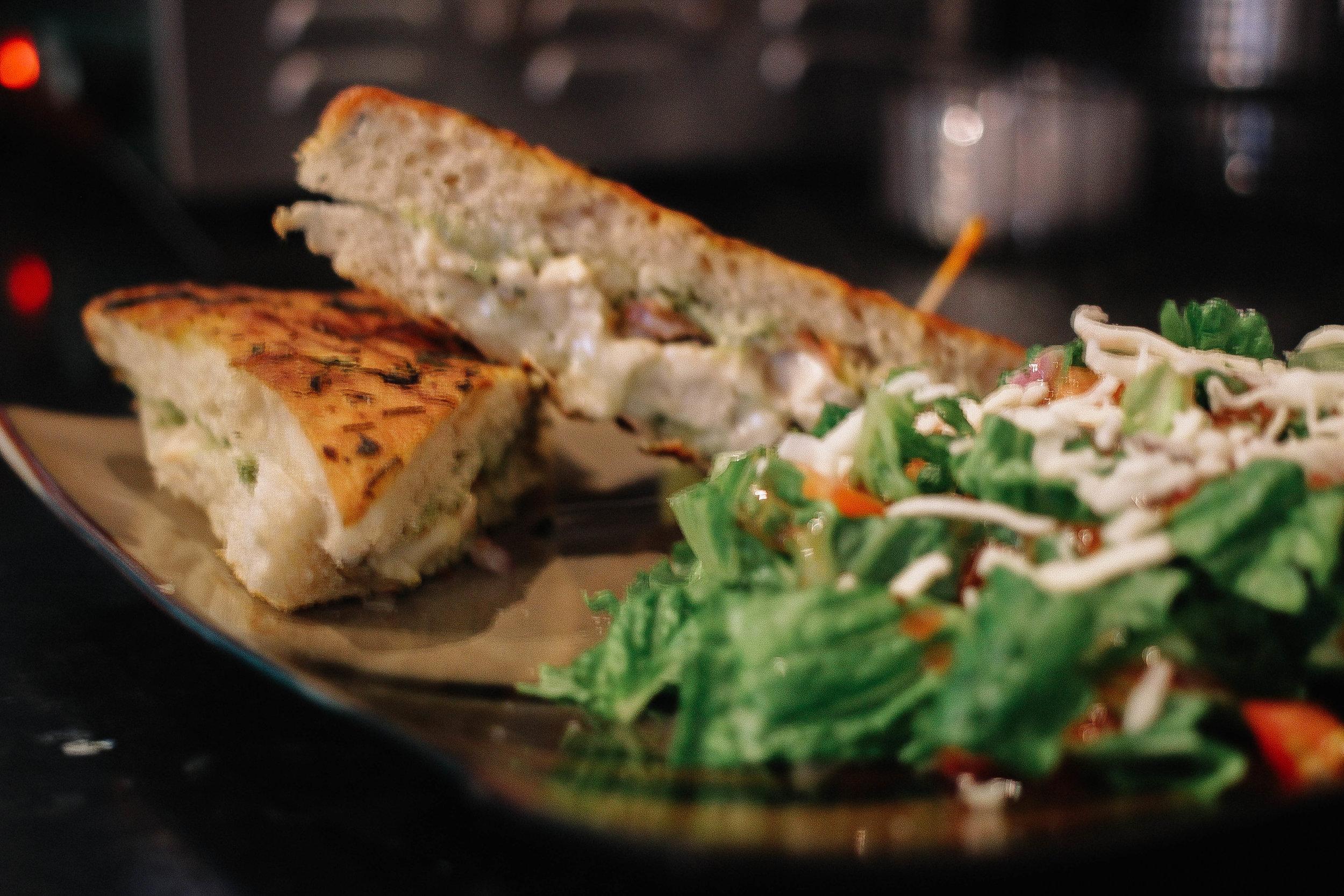 Chicken Pesto w/ a side salad
