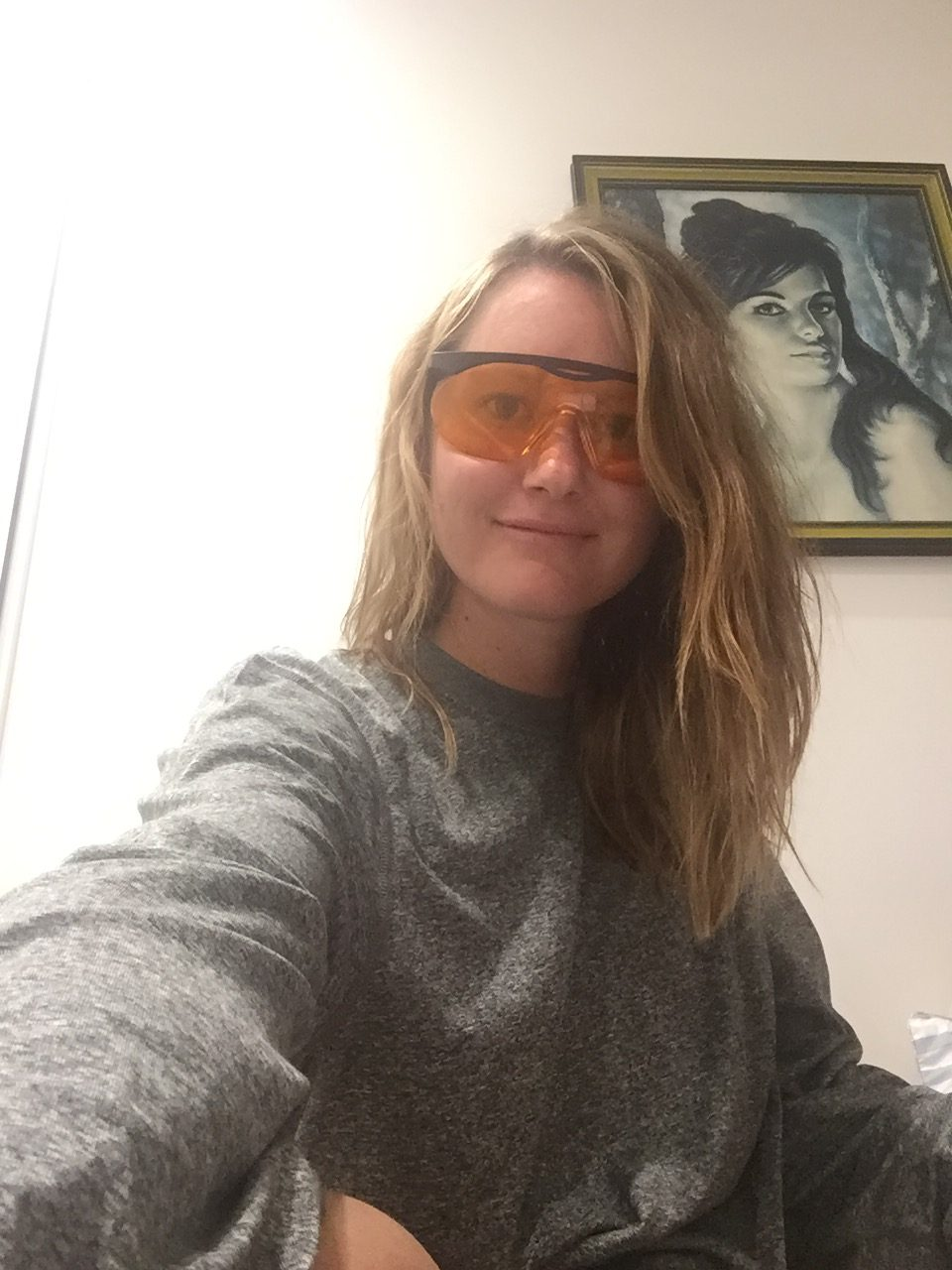 STudying with the blue blockers ....