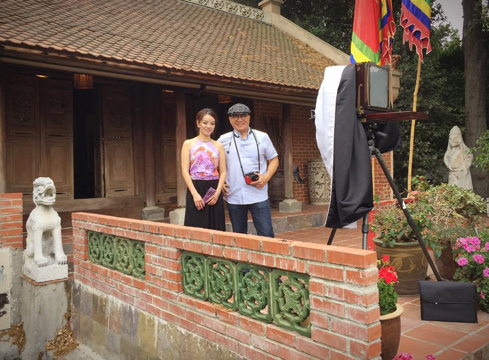 Here I am with thevery Old house fromViet Nam was imported by Dr Chan Kieu.