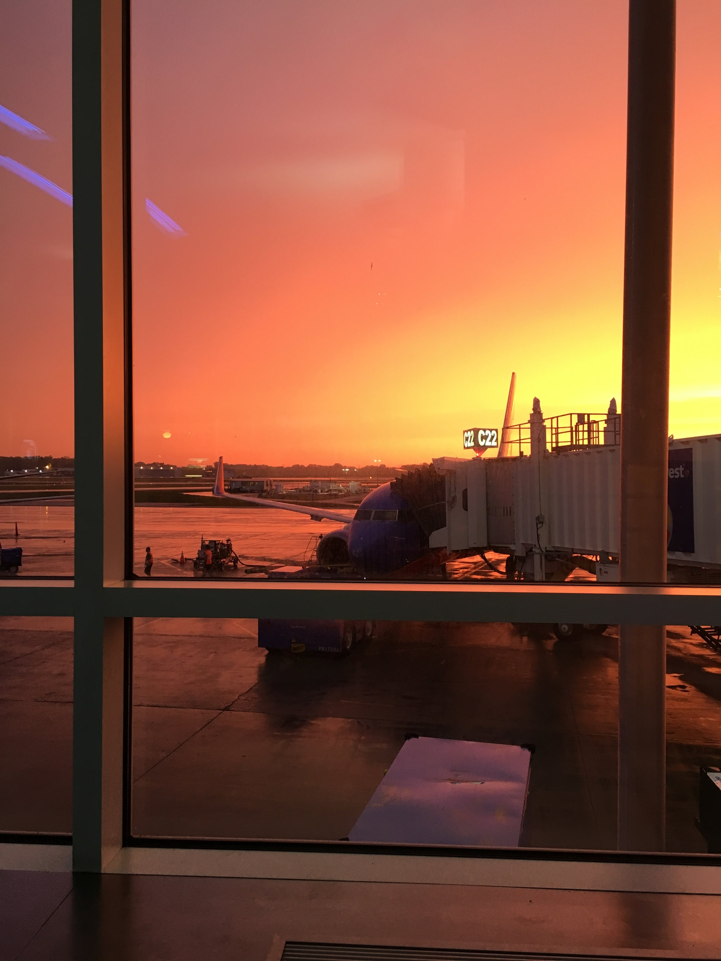 Perks of an early morning flight: watching this gorgeous sunrise!