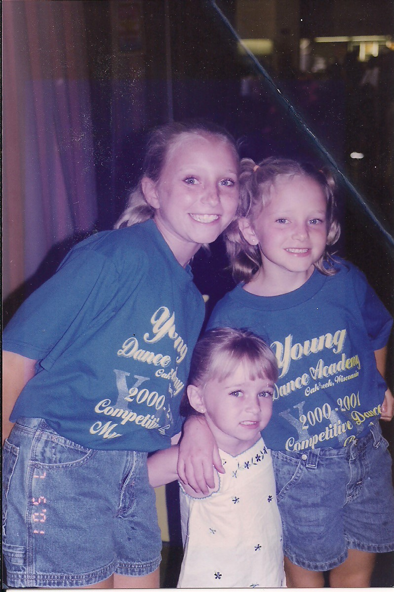 The three youngest (from left to right): Maggie, Annie, Me