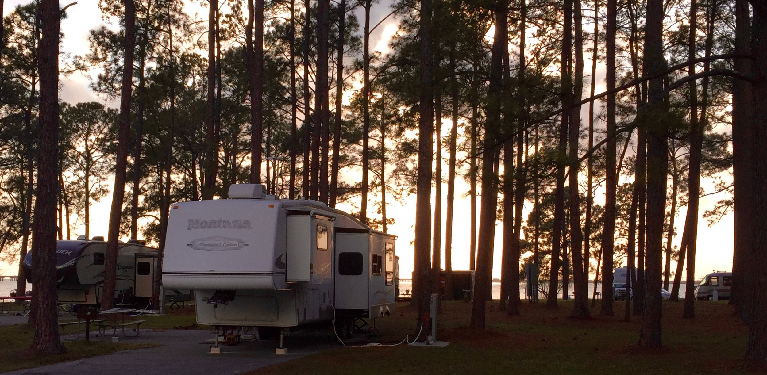 A campground on Mobile Bay