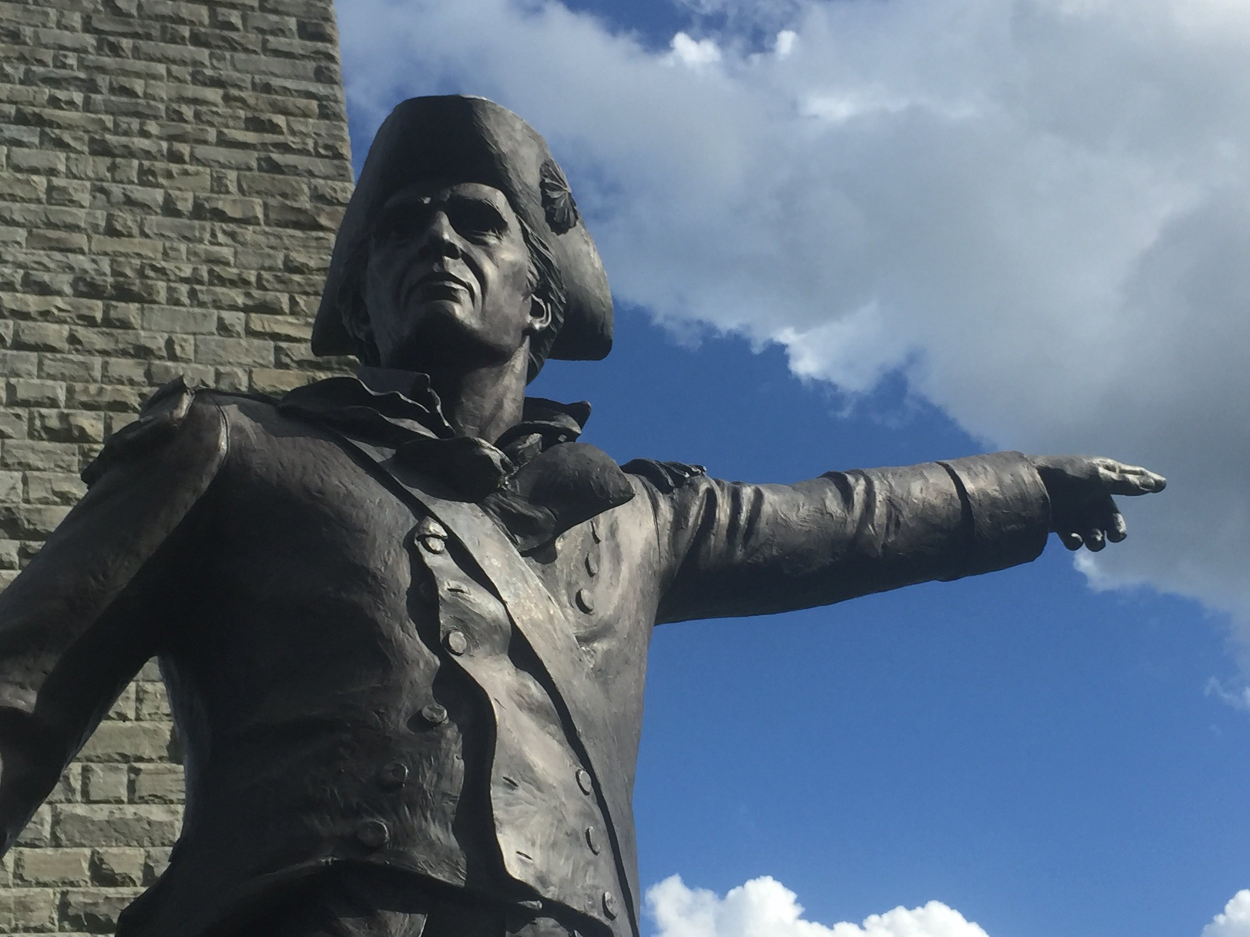 Statue of Gen. John Stark at the Bennington Monument.