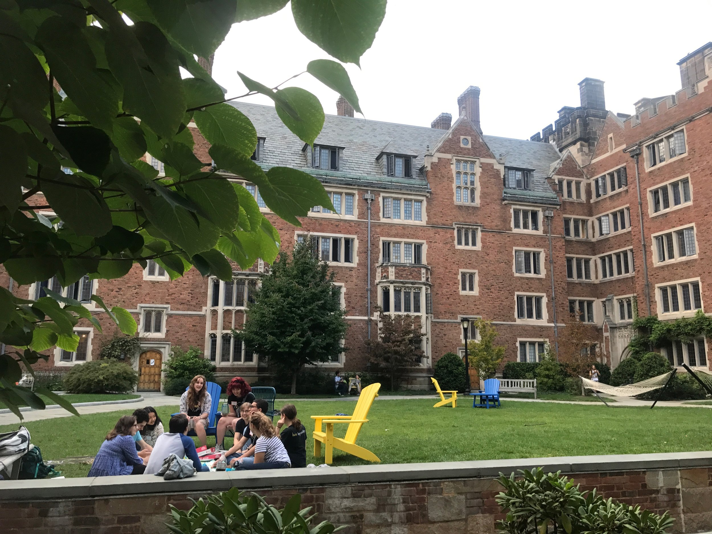 Students in the quad at Yale's Grace Hopper College, which until recently was named for pro-slavery statesman John C. Calhoun.