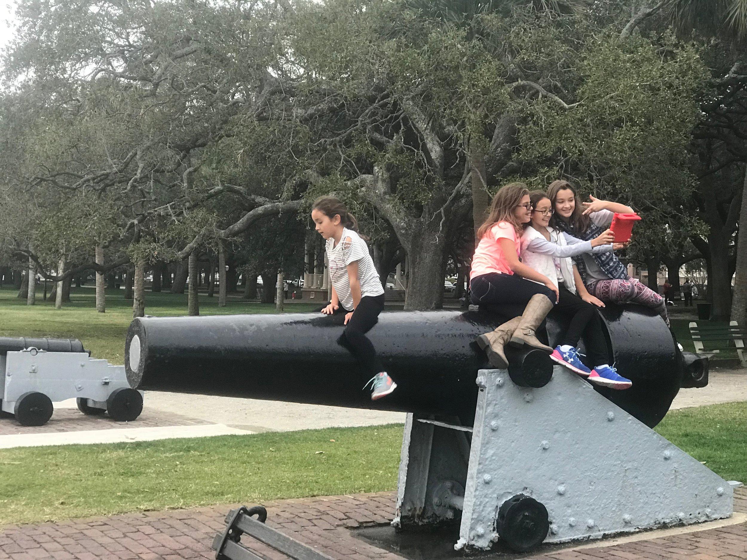 Playing at Charleston's Battery